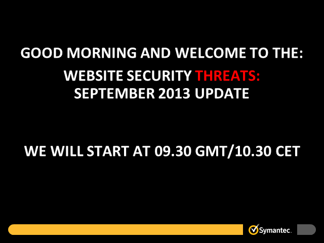 Website Security Threats:  September Update