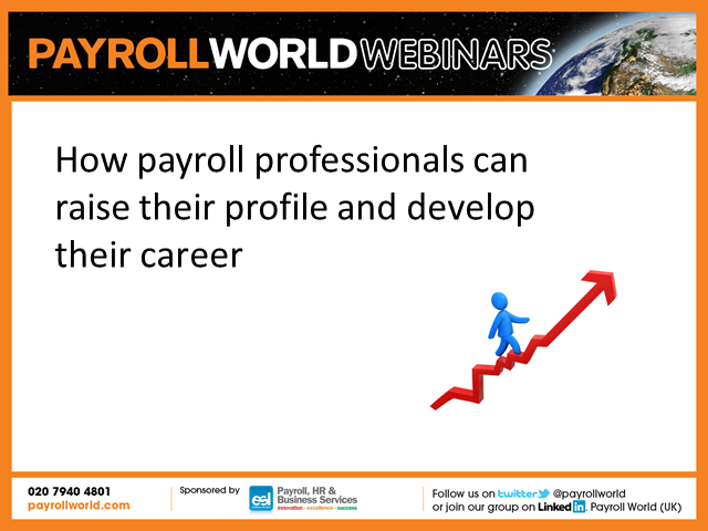 How payroll professionals can raise their profile and develop their career