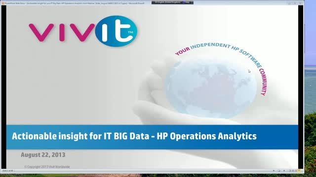 Actionable Insight for your IT Big Data – HP Operations Analytics
