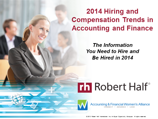2014 Hiring and Compensation Trends in Accounting and Finance: