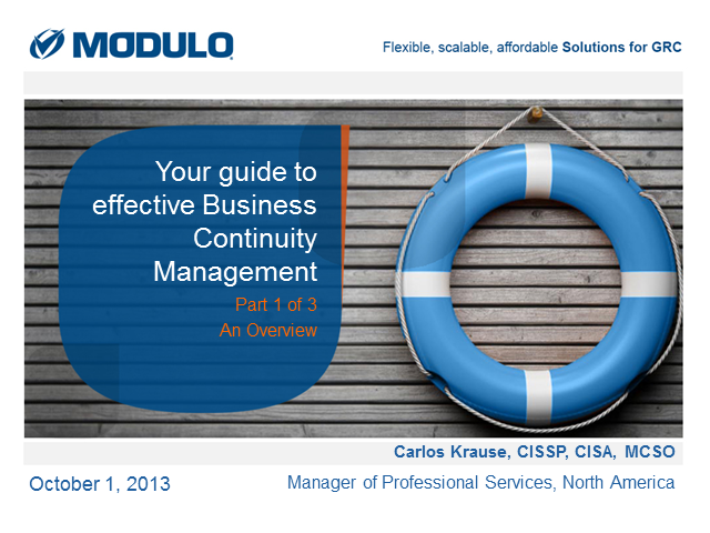 Your Guide to Effective Business Continuity Management: Part 1