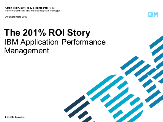 An ROI Story: Optimizing Performance in a New Age of Application Landscape