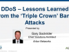 DDoS Lessons Learned from the Recent Bank Attacks