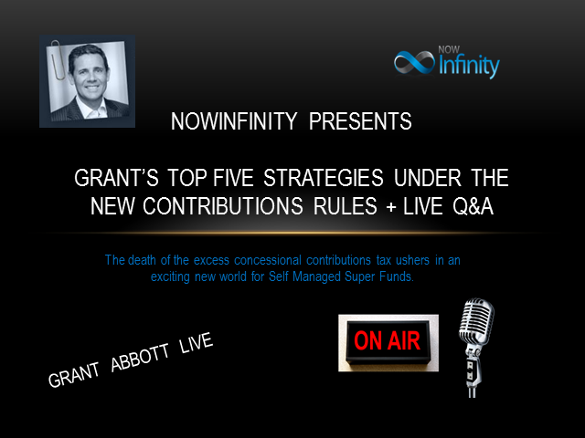 Grant's Top Five Strategies under the new Contribution Rules