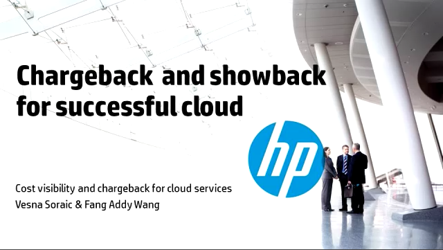 Chargeback and showback for successful cloud