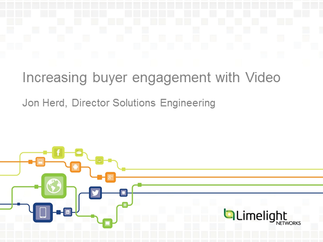 Increasing Buyer Engagement with Video Webinar