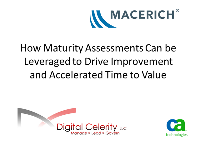 How Maturity Assessments can be Leveraged to Drive PMO Maturity & Business Value