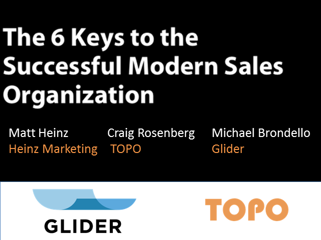The 5 Keys to the Successful Modern Sales Organization