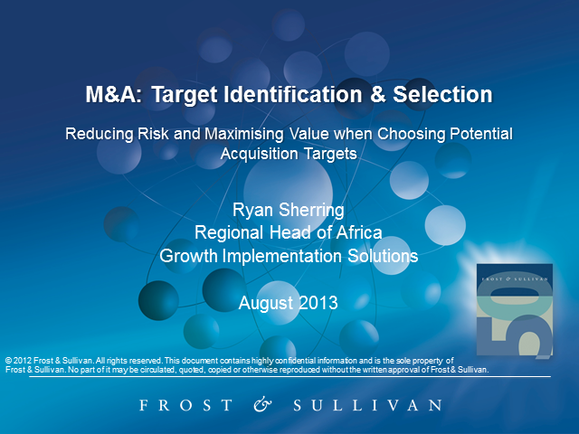 Mergers & Acquisitions: Target Identification