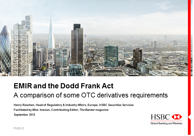 EMIR and the Dodd-Frank Act: a comparison of the OTC derivatives requirements