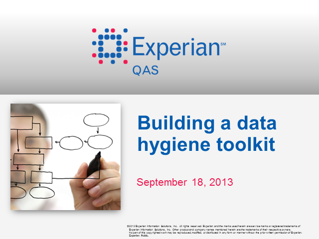 Building a data hygiene toolkit