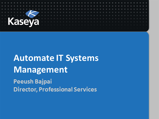 Automate IT Systems Management