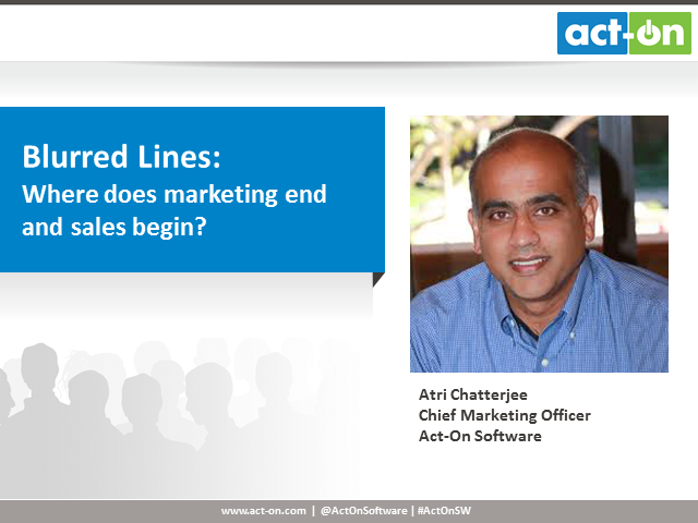 Blurred Lines: Where does marketing end and sales begin?