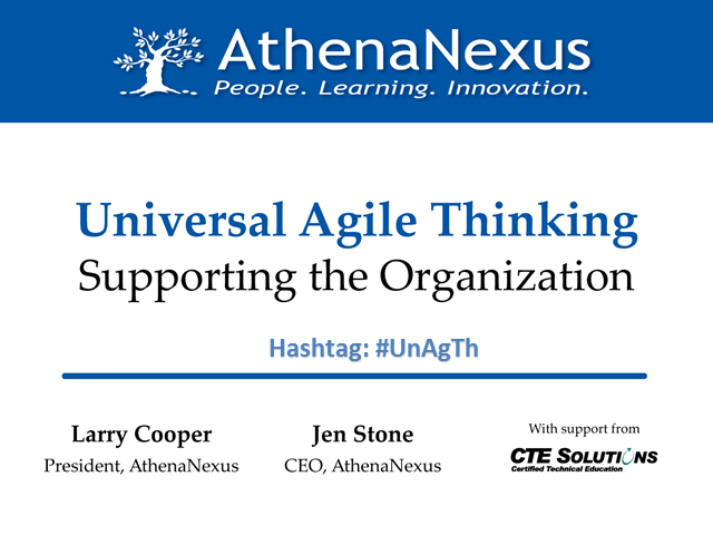 Universal Agile Thinking – Supporting the Organization