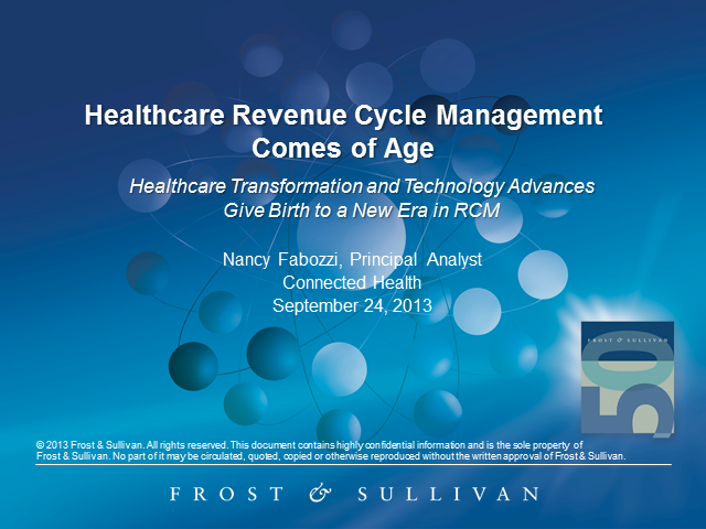 New Era in Revenue Cycle Management Emerges as Healthcare Transforms