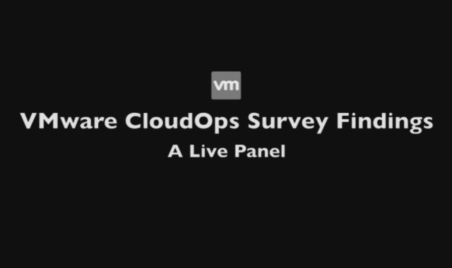 CloudOps Survey Findings - a Live Panel