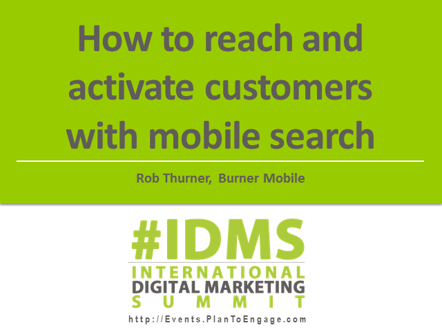 How to reach and activate customers with mobile search