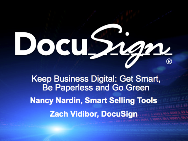 Keep Business Digital: Get Smart, Be Paperless and Go Green