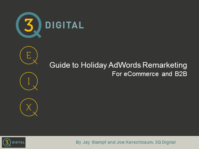 AdWords Remarketing for the Holidays
