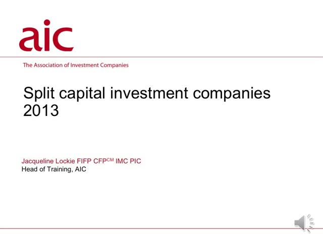 Split capital investment companies