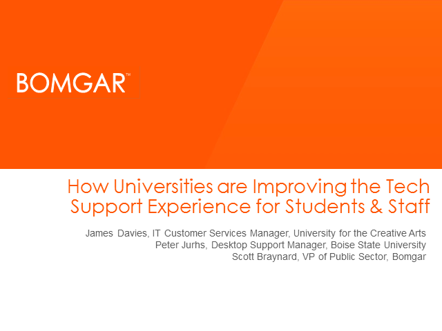 How Universities are Improving the Tech Support Experience for Students & Staff