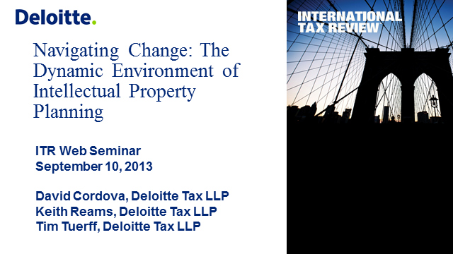 Navigating Change: The Dynamic Environment for Intellectual Property Planning