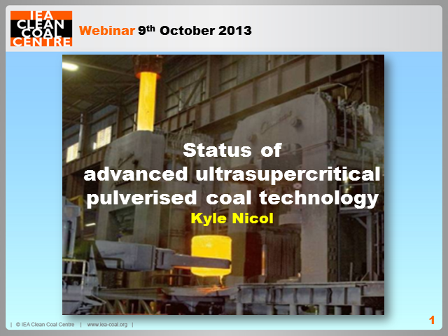 Status of advanced ultrasupercritical pulverised coal technology