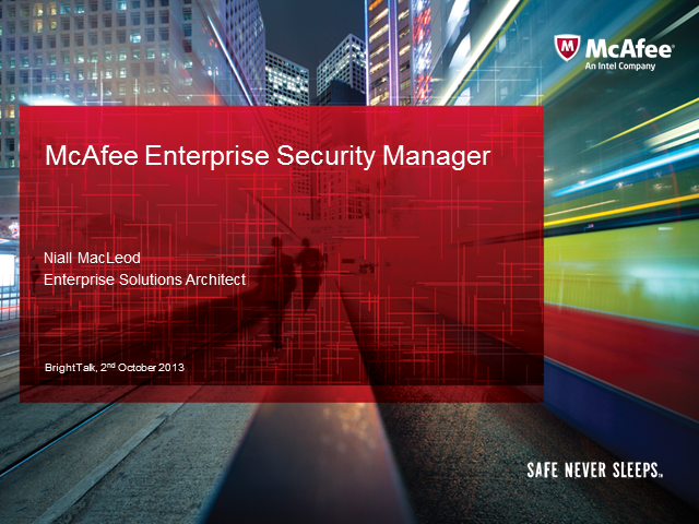 McAfee Enterprise Security Manager (ESM)