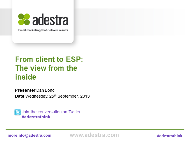From client to ESP – the view from the inside