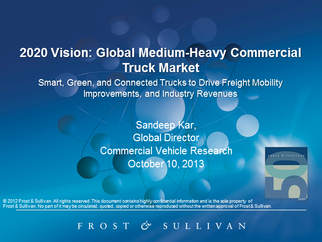 2020 Vision of Global Medium-Heavy Commercial Truck Market