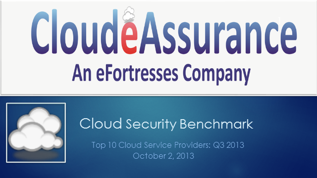 Cloud Security Benchmark: Top 10 Cloud Service Providers Q3 2013