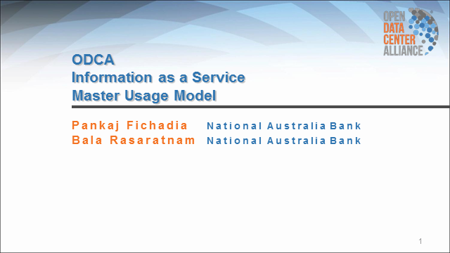 ODCA Information as a Service Usage Model