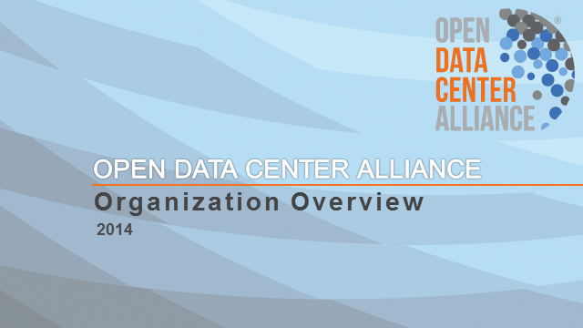 Introduction to the Open Data Center Alliance