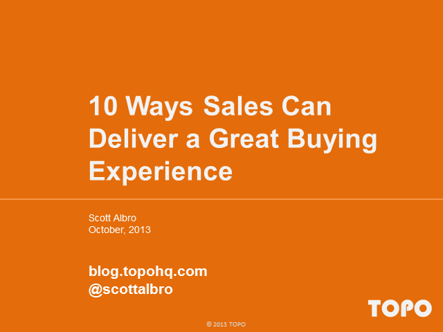10 Ways Sales Can Deliver a Great Buying Experience