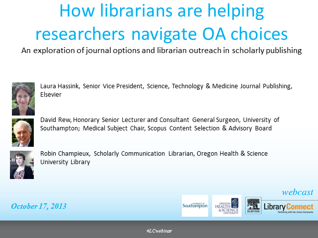How librarians can help researchers navigate open access choices