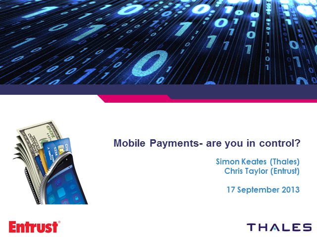 Mobile payments- are you in control?