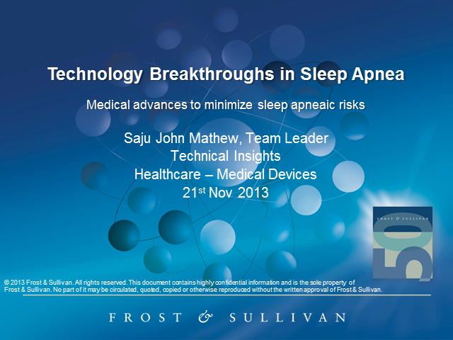 Technology Breakthroughs in Sleep Apnea