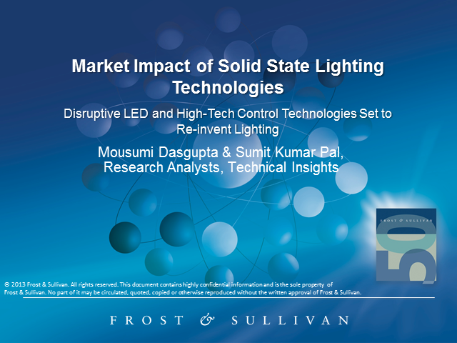 Market Impact of Solid State Lighting Technologies