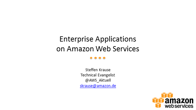 Running Enterprise Applications in the Cloud on Amazon Web Services