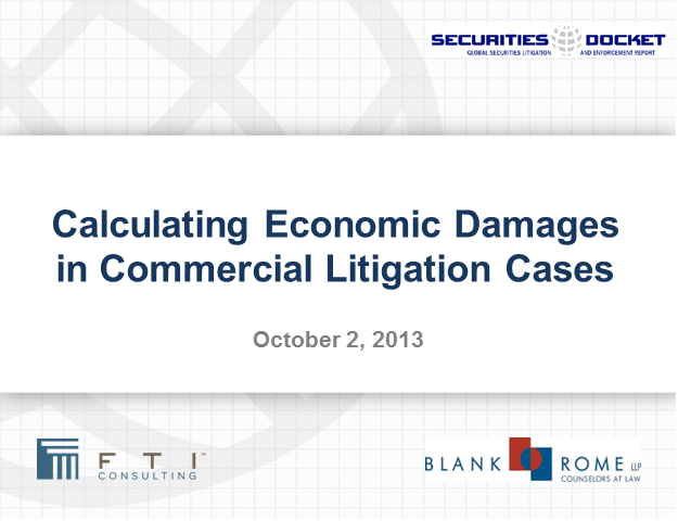 Calculating Economic Damages in Commercial Litigation Cases