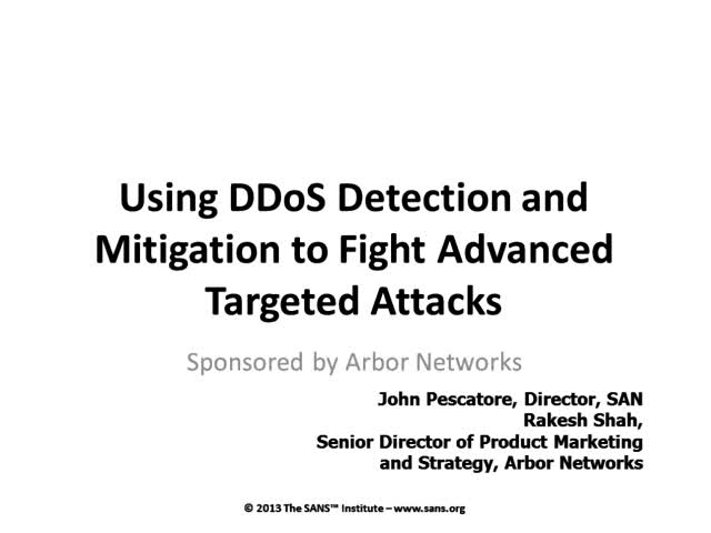 How to Fight the Real DDoS Threat