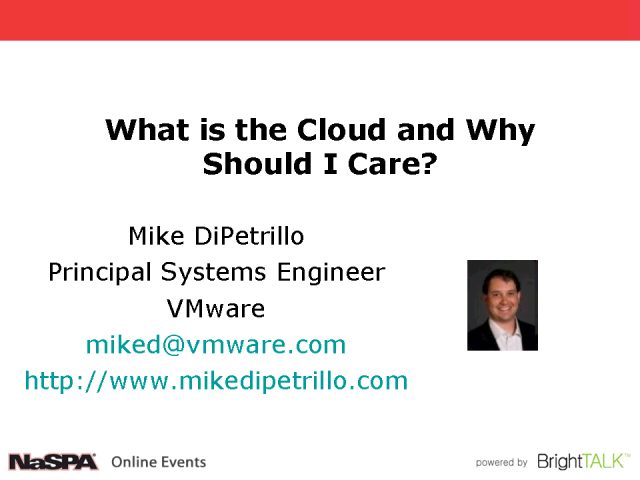 What is the Cloud and Why Should I Care?
