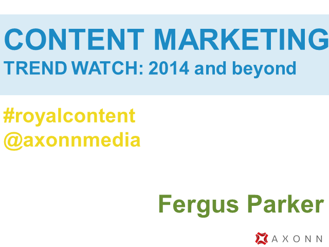 Content Marketing Trend Watch: 2014 and beyond