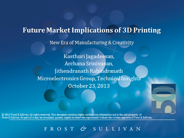 Future Market Implications of 3D Printing