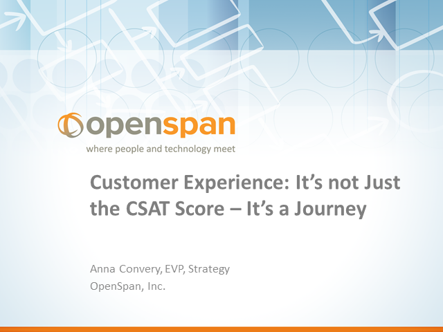 Customer Experience: It's Not Just the CSAT Score – It's a Journey