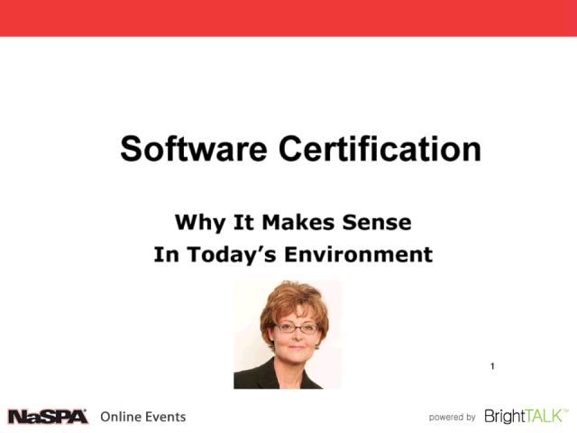 Software Certification: Why It Makes Sense In Today's Environment