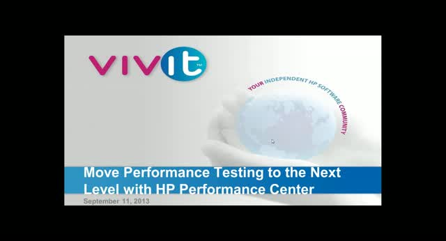 Move Performance Testing to the Next Level with HP Performance Center