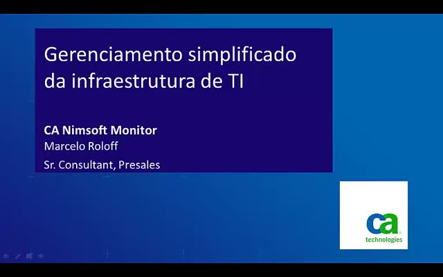 Monitoramento Unificado – CA Nimsoft