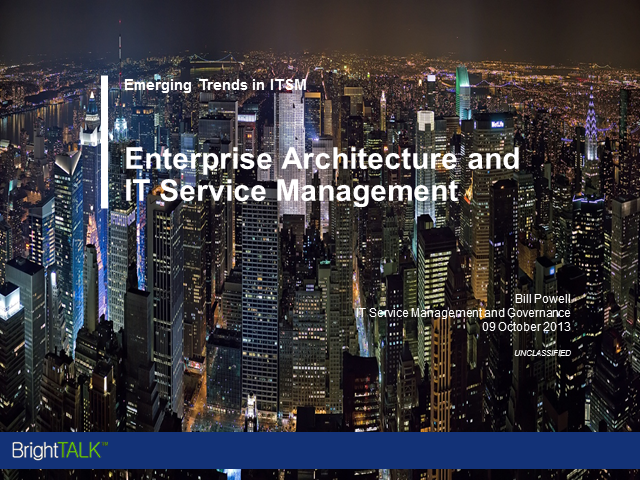The Need to Integrate Enterprise Architecture with ITSM