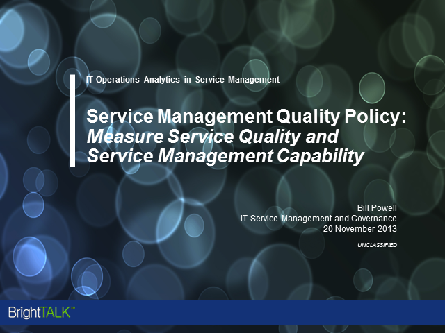 Measuring Service Quality and Service Management Capability